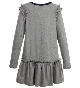 Fendi Girls Eyes Logo Grey Dress
