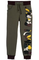 Fendi Boys Roma Khaki Green Sweatpants