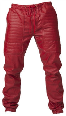 Kite Full Leatherette Pants - Perforated (Red)