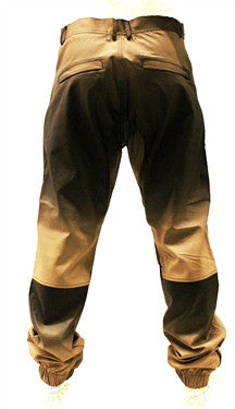 Kite Ombre Leatherette and Fleece Pants - Beige
