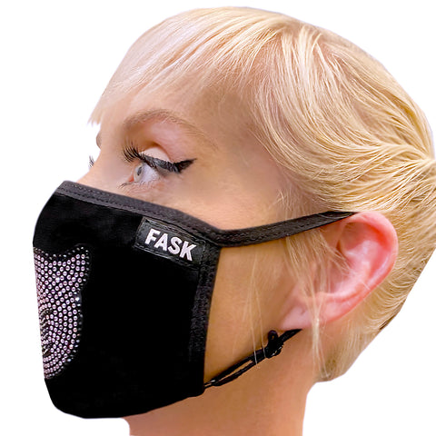 FASK Purple Demon Cotton 2.0 Stoned Mask with Interchangeable Filter and Adjustable Size Strap