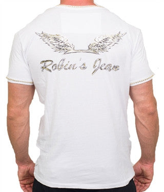 Robin's Jean Drawn Wings Gold Crystal (White)
