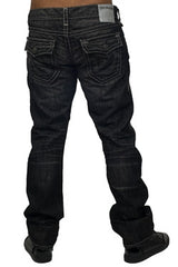True Religion | Men Ricky Flap Super T Black Jeans