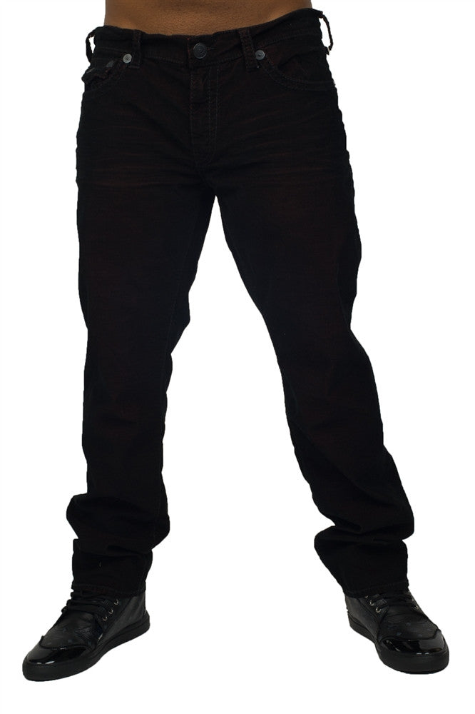 Men Geno Flap Black Jeans