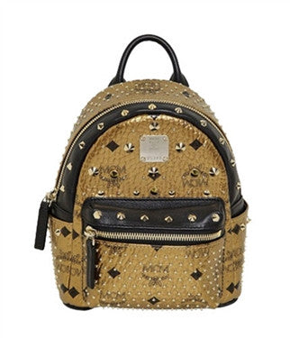 MCM Extra-Mini Side Stud Special Gold Backpack