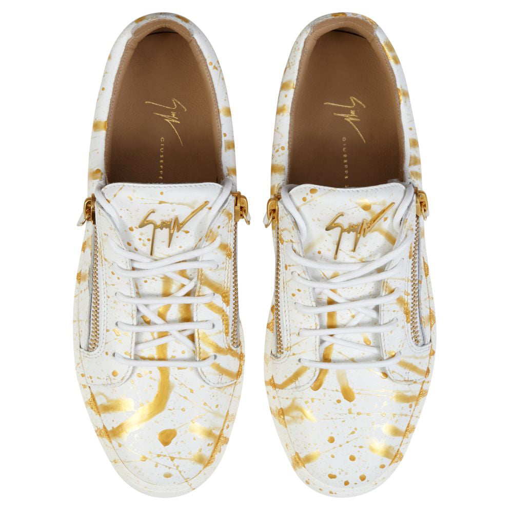 Paint Splatter Sneakers - White