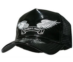 Men's Robins Black Patent Leather Cap