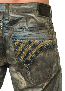 Robin's Jean In Blue Mud (Gold / Sky Blue Swarovski)