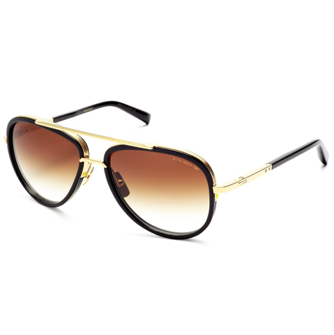 DITA MACH-TWO//DRX-2031B-60/SHINY 18K GOLD-BLACK W/D.BROWN TO CLEAR-AR