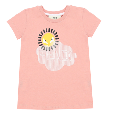 Fendi | Girls pink jersey T-shirt