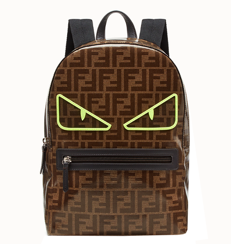 Kids Fendi Backpack W/Allover Logo Print