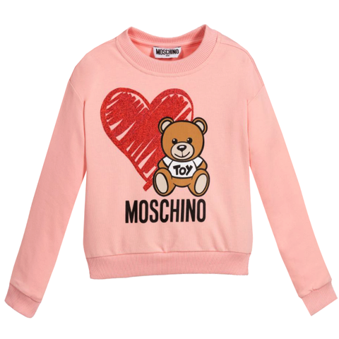 Kids Moschino | Sweatshirt W/heart and Moschino Teddy Bear
