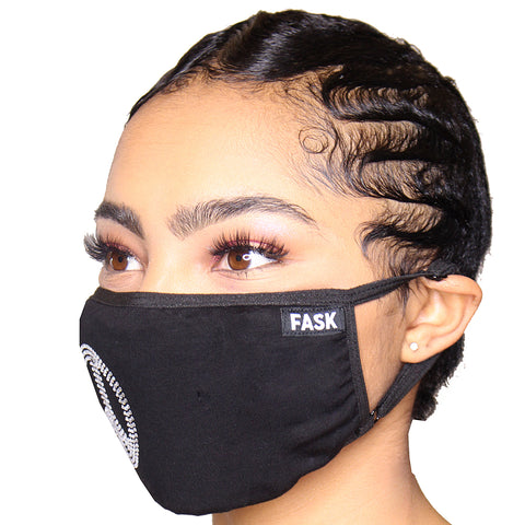 FASK Peace Cotton 2.0 Stoned Mask with Interchangeable Filter and Adjustable Size Strap