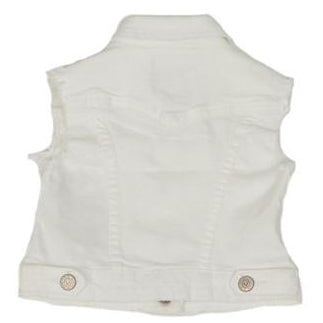 Kids TR | Girls Denim White Heat Vest