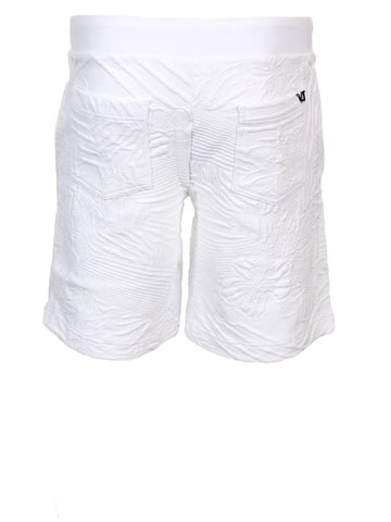 Matelasse Tiger Fower Shorts | White