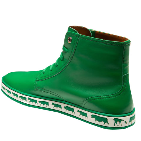 Men's Alpistar High Top Sneakers-Dark Emerald