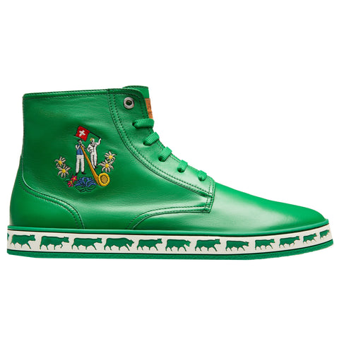 Bally Alpistar High Top Sneakers | Dark Emerald