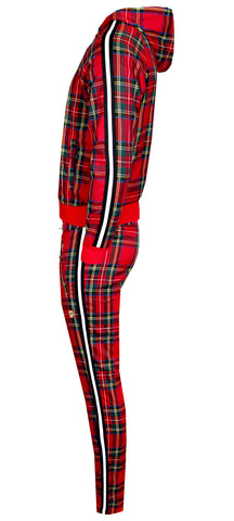 KASH Red Plaid Track Pant ,Private School Collection