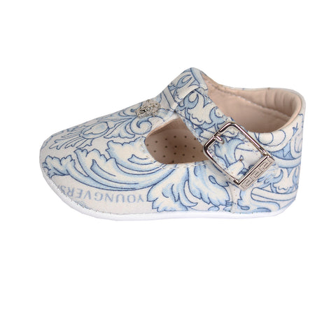Baby Crib Shoes(WHITE/BLUE)