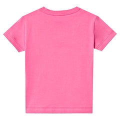 Girls Short Sleeve Logo Tee-Berry