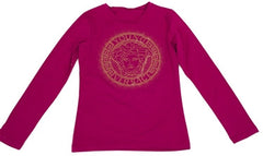 Versace Kids Medusa Graphic Long Sleeve (Pink)