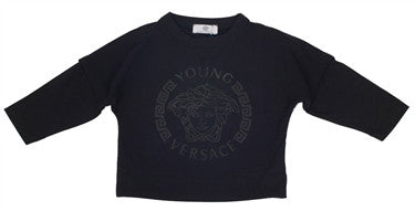 Versace Boys Crewneck Sweatshirt (Black)
