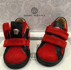 Young Versace Boys Sneakers With Velcro (Red/Black)
