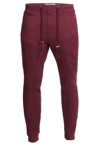 Suede Burgundy Joggers
