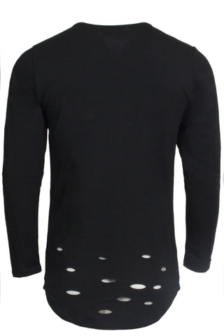 Distressed Black Long Sleeve