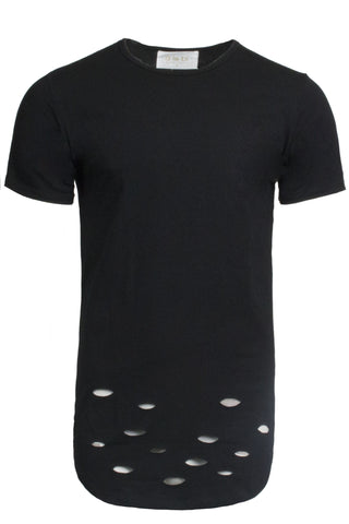 Distressed Black Tee