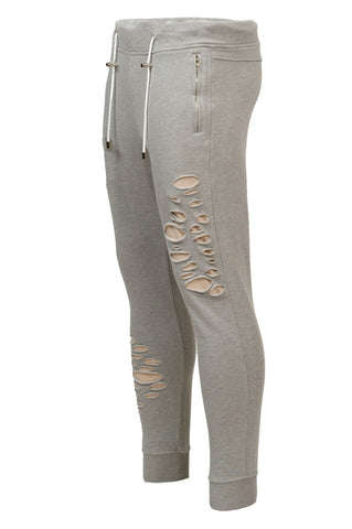 Distressed Grey Joggers