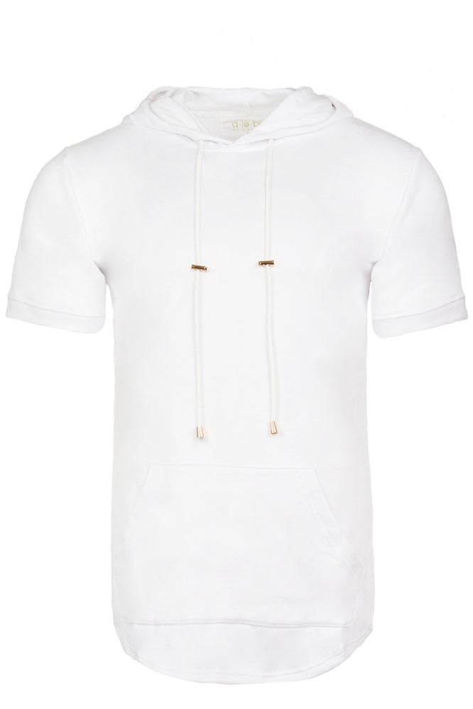 Elongated White Hoodie