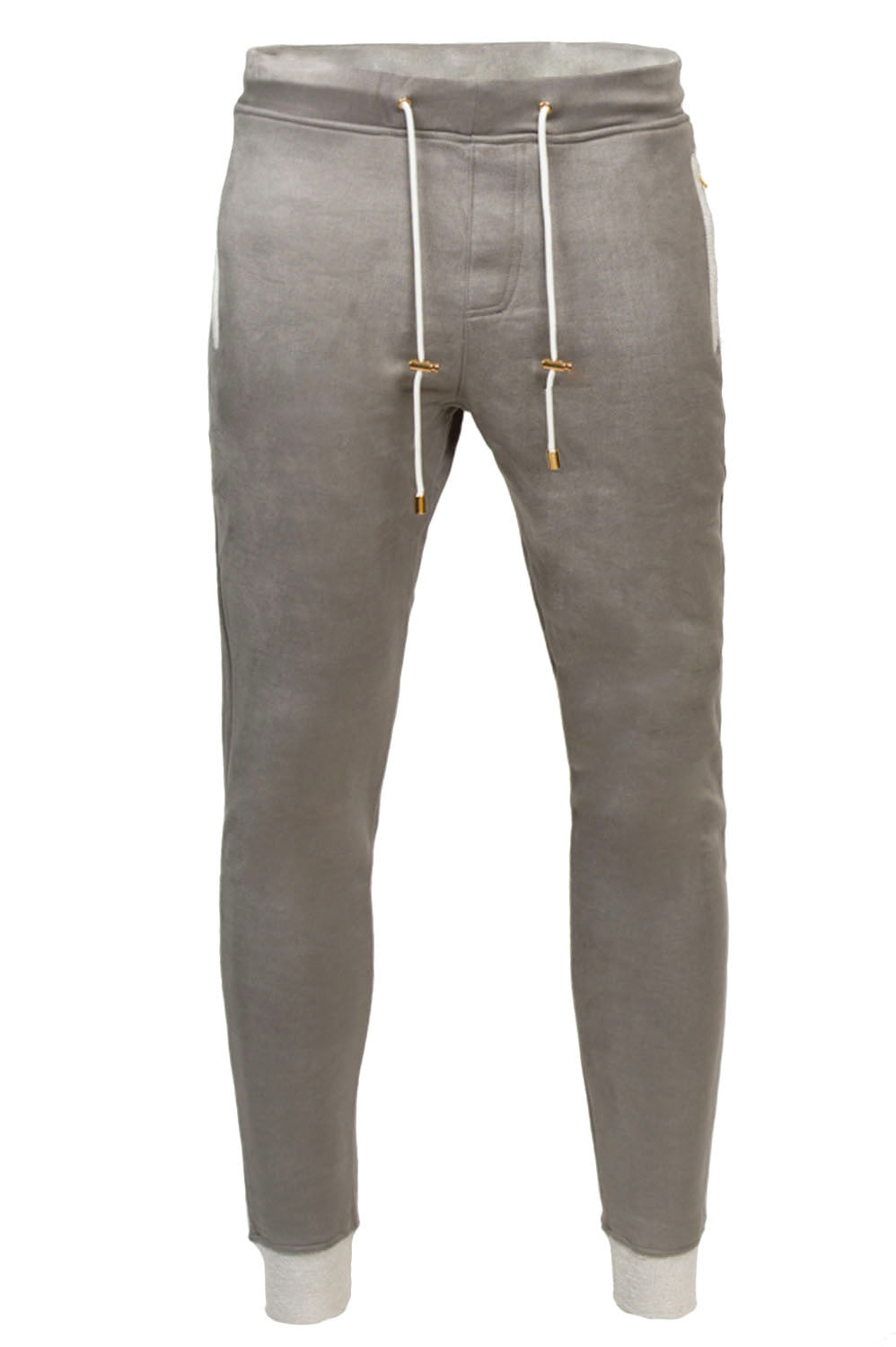 Alibi Paris Grey Suede Joggers