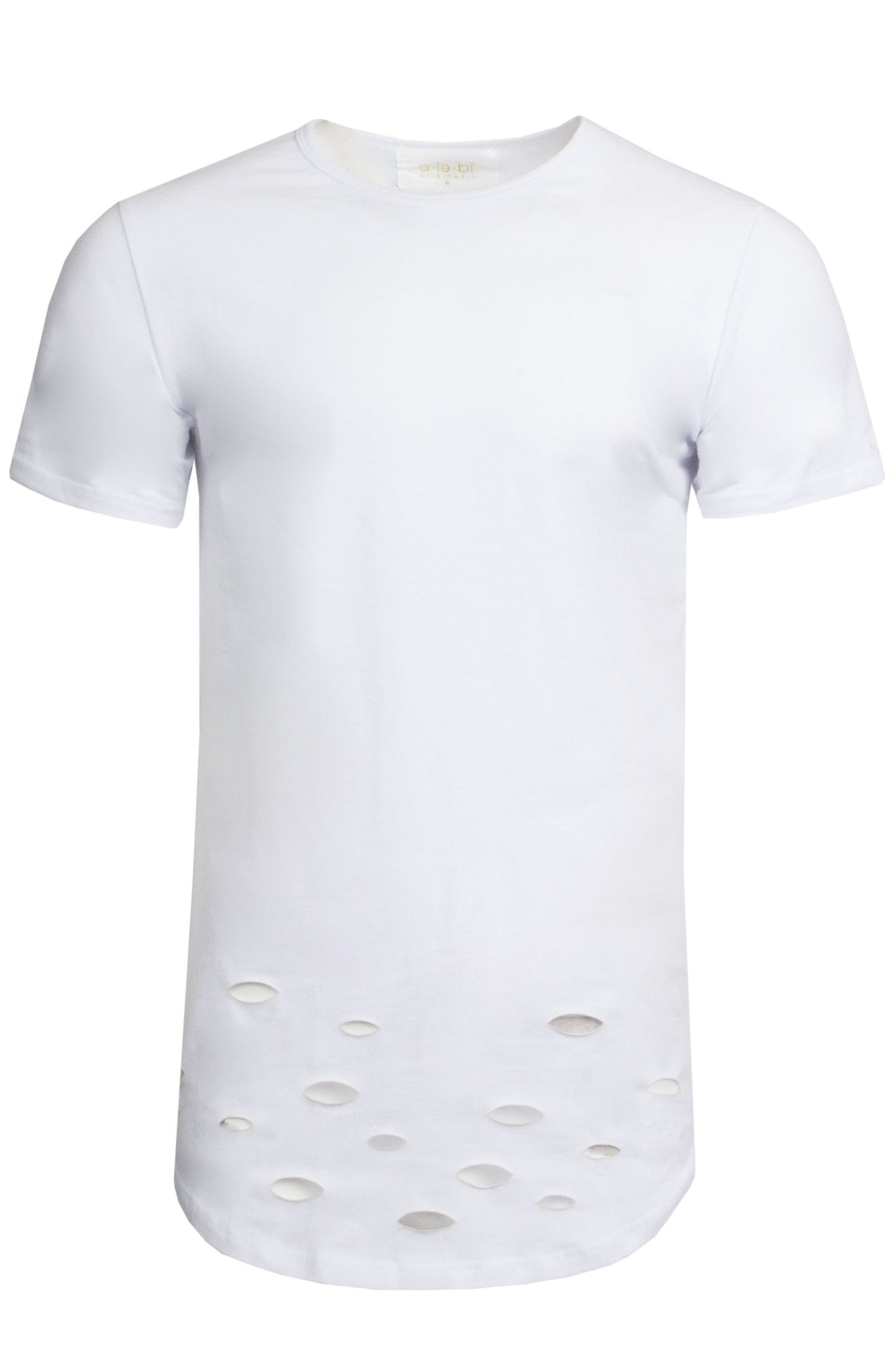 Distressed White Tee