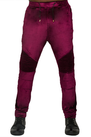 Velour Purple Biker Jogger