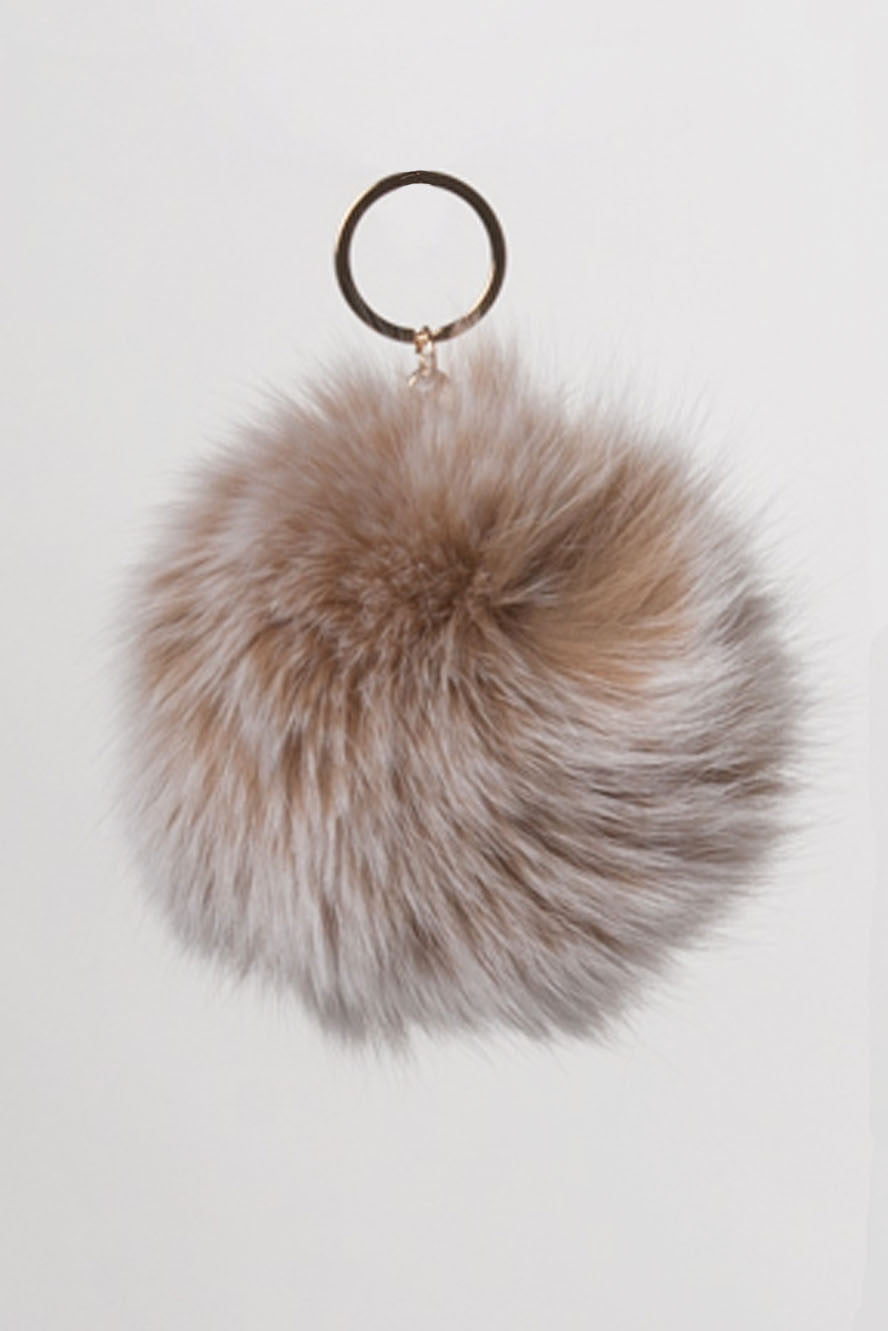 Blush Fur Ball Key Chain