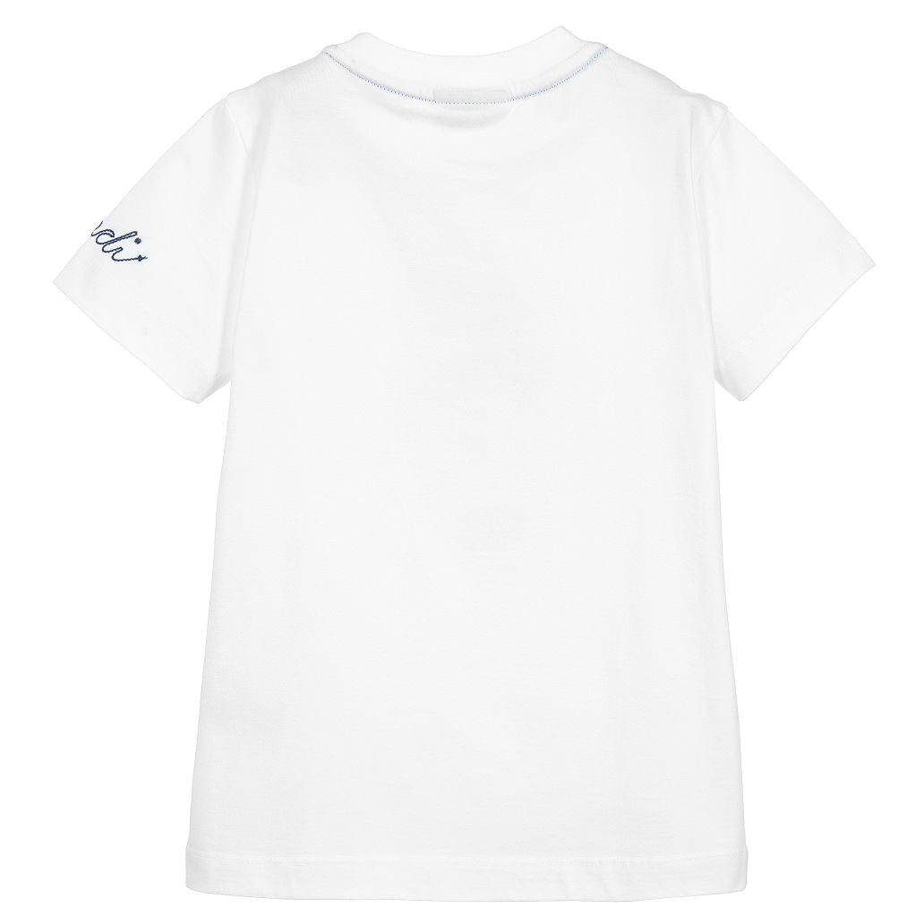 Fendi Boys SS  Bug-Kun Logo T-Shirt|White
