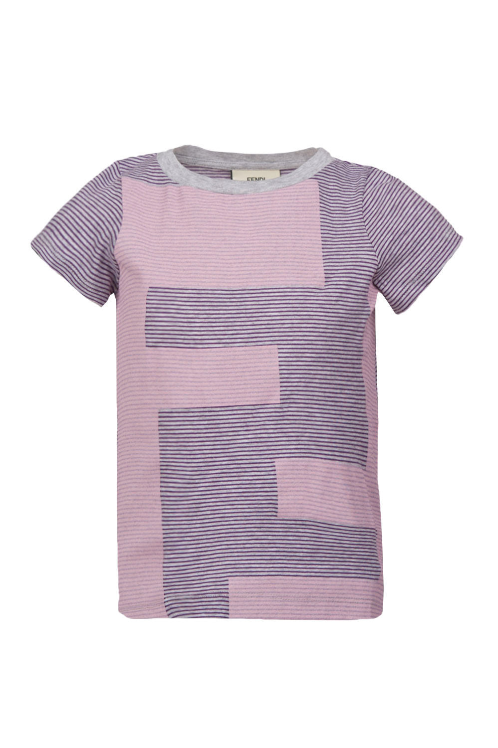 Girls FF Pink Striped Tee