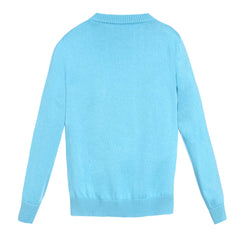 Boys Long Sleeve Logo Sweater-Light Blue