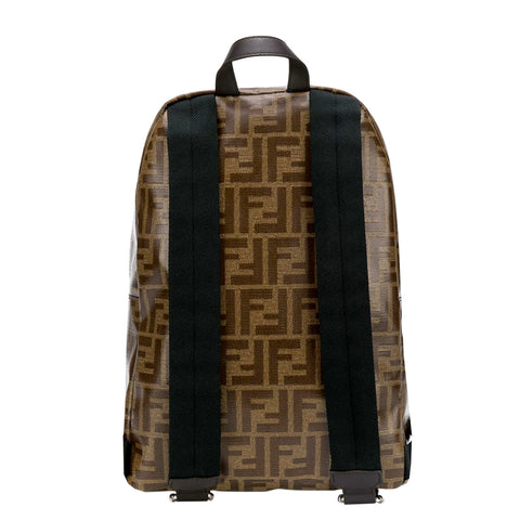 Fendi Allover Logo Print Backpack with Monster eyes