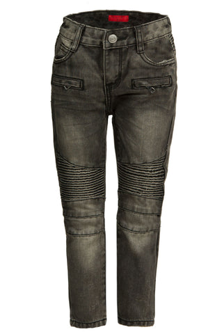 Clayton Grey Biker Denim
