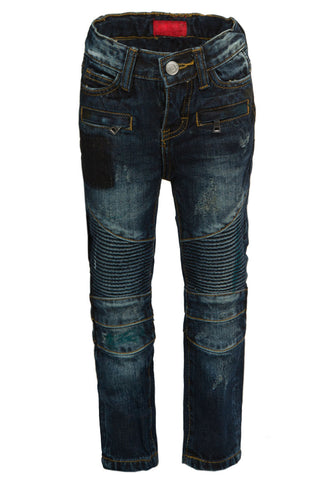 Clayton Patch Biker Denim