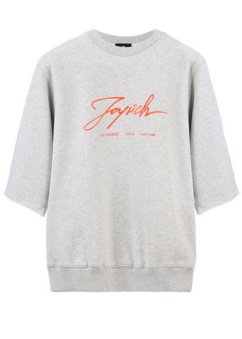 Signature Short Sleeve Grey Crewneck