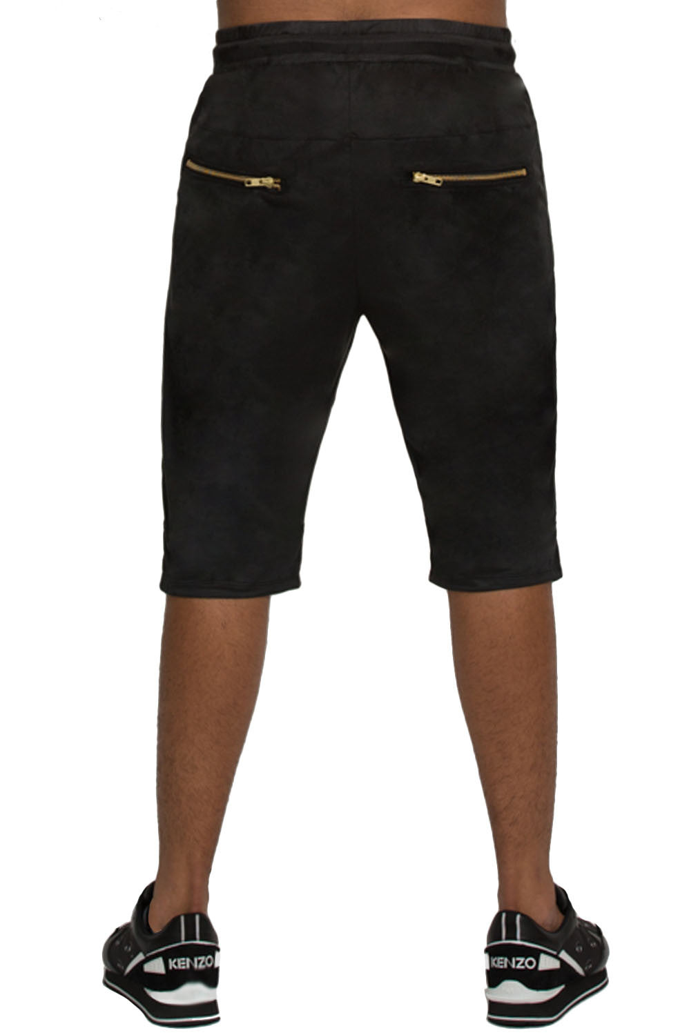 Suede Black Shorts