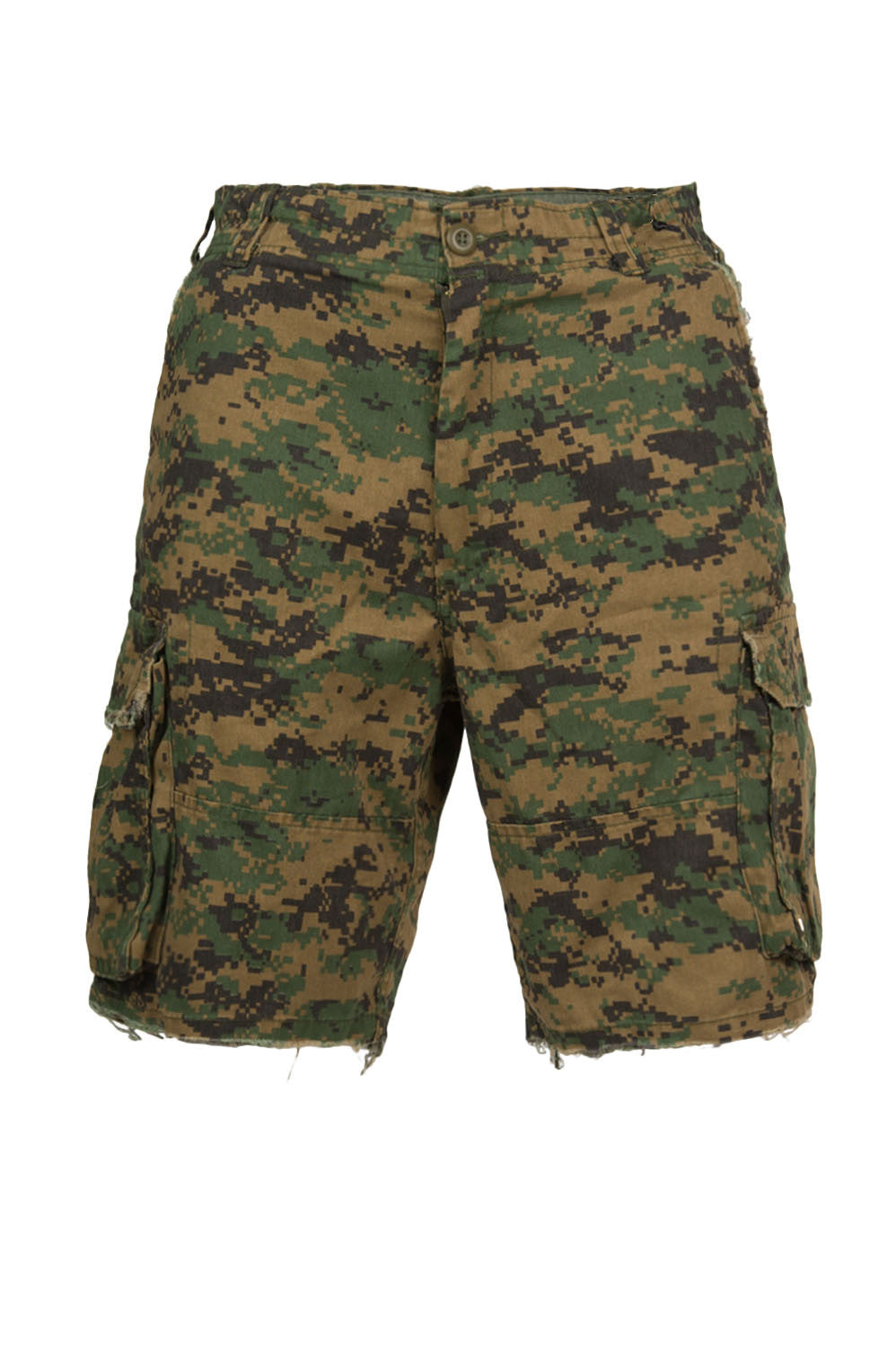 Digital Camo Cargo Shorts