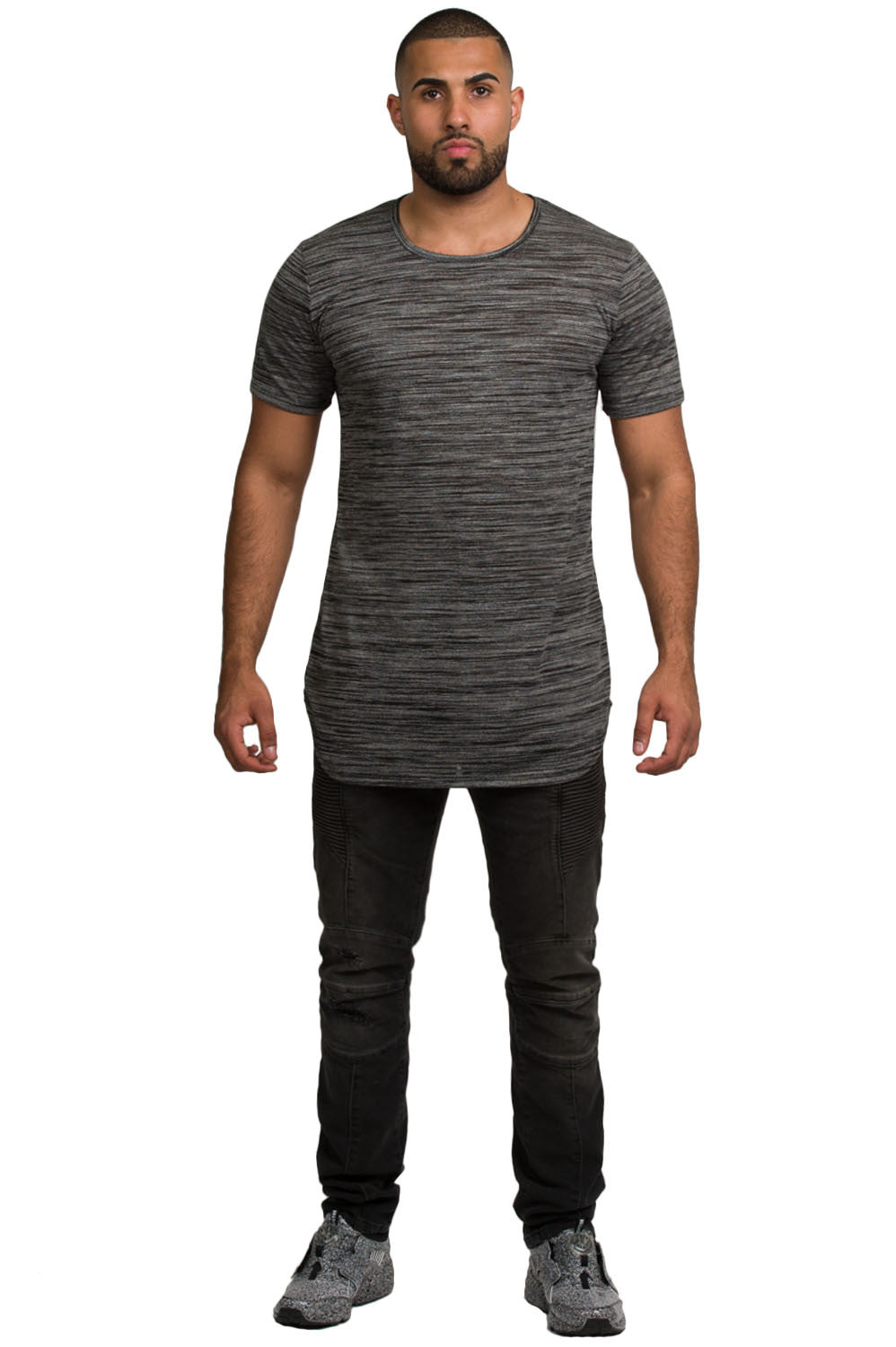 Elongated Marble Grey Tunic