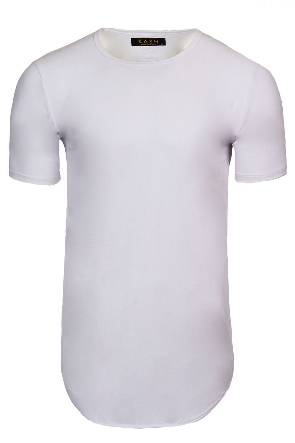 Kash Elongated Stretch Suede Optic White Tunic