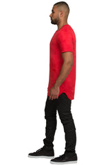 Elongated Stretch Suede Tomato Tunic