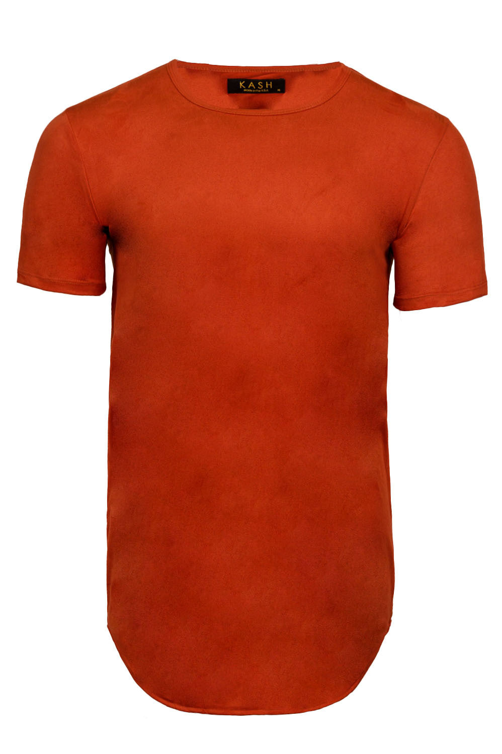 Elongated Stretch Suede Rust Tunic