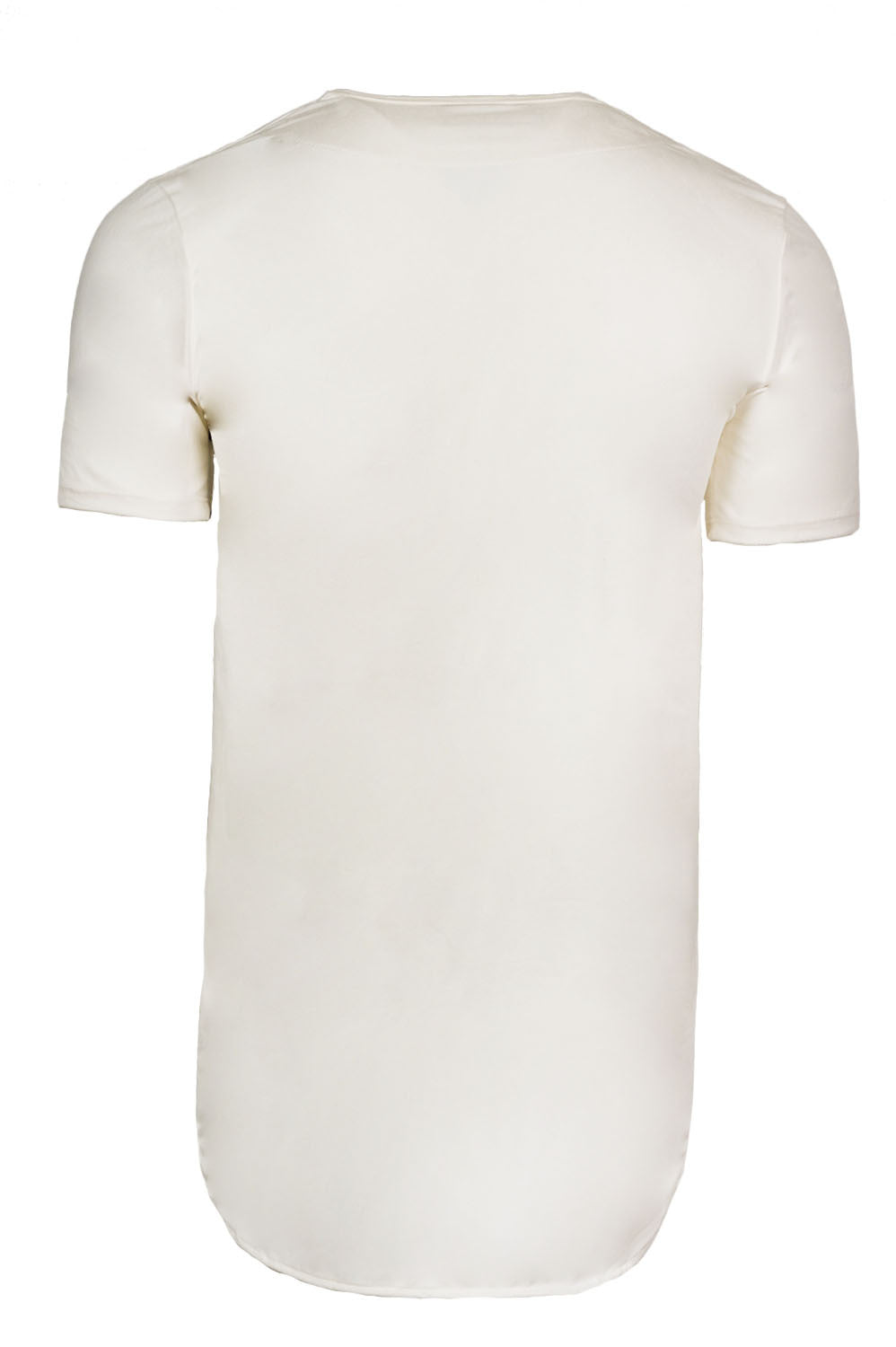 Elongated Stretch Suede White Tunic